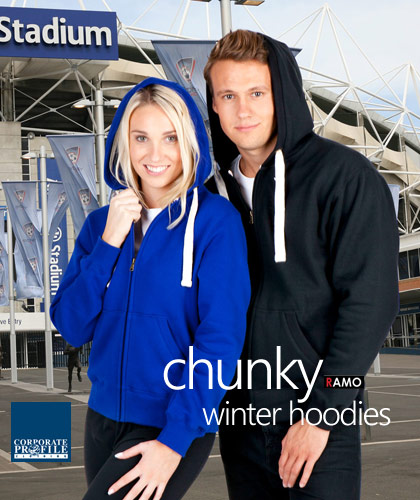 Warm, chunkyweight Ramo Hoodie #FP88UN With Logo Print Service, also available in Mens #F808HP. Best value for Winter Football and Netball Clubs. Now in Nine Colours includes, Maroon, Royal, Navy, Black, Red, Grape Marle, Charcoal Marle, Blue Marl, Grey Marle, New Charcoal, Azure Blue. Has Kangarooo Pocket front, full lining inside the hood for superior warmth in cold weather, chunky natural colour cord.Great Brands. Great Prices. Enquiries Call Free 1800 654 990