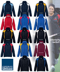 Intensity Team Jacket with Logo Service. Sample inspection service is available.14 colours for Schools, Teams and Groups. Mens, Ladies and Youth sizes available. 100 percent nylon taffeta is strong dependable showerproof fabric. Good fiiting design, lined with sports mesh, with a vented panel on the back for added breathability. There is a hidden hood tucked in under the collar, adjustable cuffs and an elastic draw cord on the hem to assist reduce cold wind blowing inside your jacket.