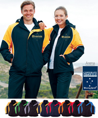 Corporate Arena Team Jackets #JK77 With Logo Service. Inspect this jacket for Supporters, Members, Directors, Coaching Staff and Players. High performance Nylon Rip Stop fabric with PU coating, breathability: 3000mm. Detachable Hood, zippered side pockets, front storm flap over main zipper. Staywarm and snug during winter months with Polar Fleece inner lining. Sizes from 2Extra Small to 7XL to fit everyone in your club or workplace. Enquiries FreeCall 180 654 990