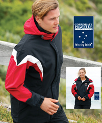 Winning Spirit, Bathurst Tri Colour Jacket With a Hood #JK28 Corporate Logo Service. Black/Grey/White, Navy/Red/White, Black/Red/White and Navy/Sky/White.High performance Nylon Taslon outer shell with Micro Polar Fleece Lining.Double stitched seams across back and front, adjustable cuffs with velcro tabs. For all details the best idea is to call Renee Kinnear or Shelley Morris on FreeCall 1800 654 990