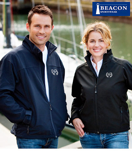 Inspect a Sample of these best quality Corporate Soft Shell Jackets by Beacon Sportswear Mens #Perkins #Libby- with Logo Embroidery Service. Enquiries Renee Kinnear or Shelley Morris on FreeCall 1800 654 990