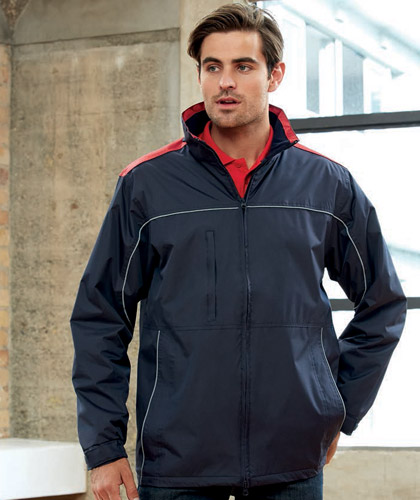 Reactor Jacket #J3887 in Company Colours With Logo Service available in 5 Colour Combinations, Black/Red, Black/Gold, Black/Graphite, Navy/Graphite, Navy/Gold.A medium weight jacket with warm microfleece on the inside for warmth. With reflective piping across the chest and front panels. Enquiries FreeCall 1800 654 990.