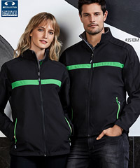 Black-Green Corporate Jacket #J510M With Logo Service 200px