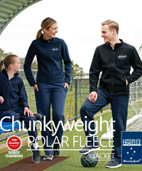 Chunkyweight Winter Polar Fleece Jacket #PF07 With Logo Service is one of Australia's best selling polar Fleece jackets for Business, Uniforms, Teamwear and Recreation. The Bonded Polar Fleece is thick, chunky and warm! 350gsm made with high performance anti pill polar fleece, snug to wear and features deep pockets to keep your hands warm. Mens #PF07, Ladies #PF08 and Kids #PF07K. Colours Black and Navy. To request a sample to inspect please call Reenee Kinnear or Shelley Morris on FreeCall 1800 654 990.