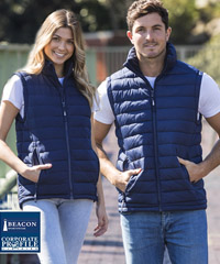 Premium Puffer Vest for Company and Clubs with top class logo embroidery service. Available Black and Navy. Sizes XXS-3XL and 5XL. Matching Puffer Jacket #Hudson is also available. Fresh styles , functional performance. Corporate Profile Clothing FreeCall 1800 654 990