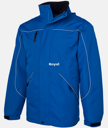 Royal Waterproof Work Jacket with Lining # 3TPJ Tempest With Company Logo Service