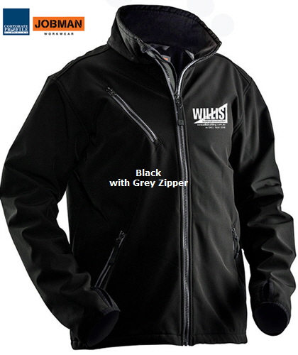 Soft Shell Jacket #1201 Black (9900) With Logo Service 420px