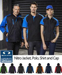 The Nitro Range includes Jacket, Polo, Shirt and Cap for comprehensive Uniform Pacvkage. #Jacket #J10110 is available separately.The Jacket is warm for cold weather and features durable outer Nylon with Micro Fleece for warmth and comfort on the inside. Available in 7 Company Colours, also ideal for Sporting Club requirements. For all the details please all Corporate Sales Free Call 1800 654 990