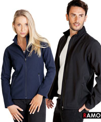 Ramo iT Softshell Corporate jacket with logo service. Available in Mens and ladies, Navy and Black. Enquiries FreeCall 1800 654 990