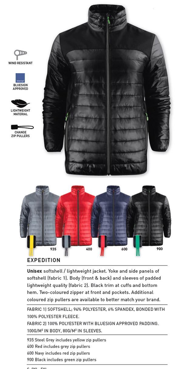 Expedition Jacket with Logo Service 600px