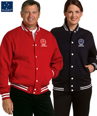 College style fleece jackets with embroidery