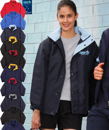 Kids and Adults Stadium Jackets #JK01K in Team Colours by Winning Spirit. Logo embroidery or print service is available. Tough wearing, wind and water resistant oxford outer body shell with warm micro fleece lining on the inside of the jacket. Ten sports colours available. Also ideal for Work Uniforms, Travel  and Promotions. Great Brands. Great Prices. FreeCall 1800 654 990