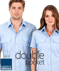 Jasper-Double-Pocket-Short-Sleeve-Shirt-#W60-With-Logo-Service