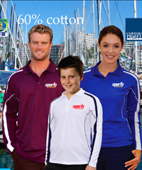 Long-Sleeve-Sports-Polo's for Students and Schoolwear