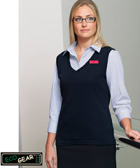 Womens Merino Wool Vests with logo service