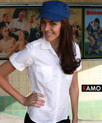Military-Styled-Cotton-Shirt-White-with-Cap-200px