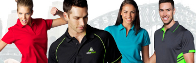 Eliminate Heat Stress at work this summer with lighter, cooler, breathable PoloShirts. Our range includes high perfomance fabrics. vibrant colours and comfortable design options. We also offer an incredible Custom Order Range of Polo's, Tees, Shorts and Training Singlets.