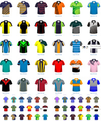 High performance printed Sports Polo Shirts #BOC001 designed especially for your Players, Members, Supporters, Parents, Kids, Sponsors and Merchandise Sales. Contract prices for bulk orders, expert graphics, high resolution print reproduction, reliable manufacturers. For all the details please call Corporate Profile Clothing on FreeCall 1800 654 990