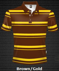 Brown-Gold-Club-Stripe-Polo-Shirt-#8296