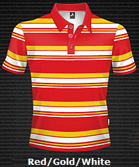 Red-Gold-White-Club-Stripe-Polo-Shirt-#8296