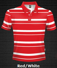 Red-White-Club-Stripe-Polo-Shirt-#8296