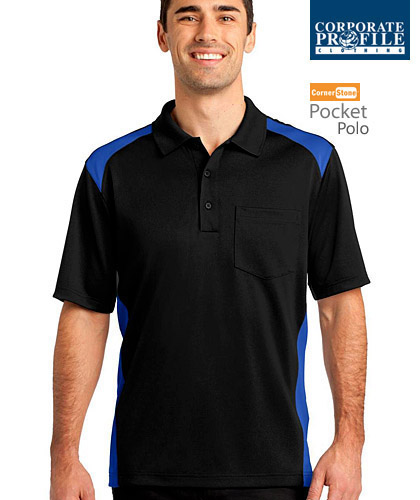 Hard to find, outstanding quality Sport Polo Shirt With Pocket #CS416 (Black-Royal) With Logo Service. Best selling item for Men who like to have a handy pocket for pen, phone, notebook, glasses etc. Can be printed or logo embroidery with Club emblem. Available in 6 team colours, 223 gsm, comfortable sizings from XS-4XL. Snag proof. Wrinkle resistant. Long lasting durability for Company Workwear, smart casual business wear, staff uniforms, sporting club player outfits. Call Free 1800 654 990