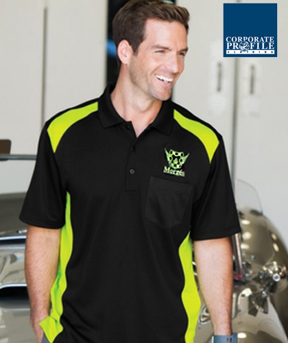 Hard to find, outstanding quality Sport Polo Shirt With Pocket #CS416 (Black-Shock Green) With Logo Service. Best selling item for Men who like to have a handy pocket for pen, phone, notebook, glasses etc. Can be printed or logo embroidery with Club emblem. Available in 6 team colours, 223 gsm, comfortable sizings from XS-4XL. Snag proof. Wrinkle resistant. Long lasting durability for Company Workwear, smart casual business wear, staff uniforms, sporting club player outfits. Call Free 1800 654 990
