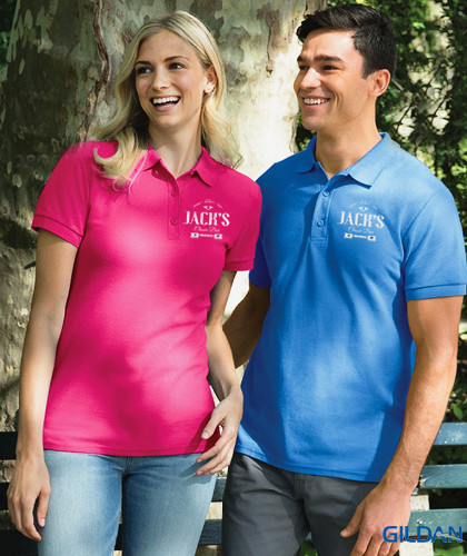 16083766 Gildan Polo Shirt Premium Cotton #82800 and Womens #82800L The Gildan  Premium Cotton Polo is a popular product and stock sells quickly every day.