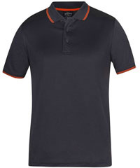 Podium-Jacquard-Contrast-Polo-#7JCP-Charcoal-Orange-200px