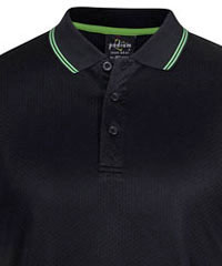 Podium-Jacquard-Contrast-Polo-#7JCP-LT-Black-Pea-Green-200px