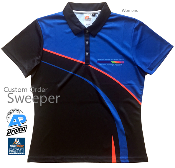 Introducing Sweeper Sport Polo #SP202. A Custom Order Service to produce professional quality polo's and training tees. Our experienced design team can assist you to create a Club Polo that will appeal to Senior Players, Directors, Sponsors, Supporters, Parents and Kids. Our polo's and tees are made with quality fabrics and quality inks that produce polo's that look great, are comfortable to wear and enhance your Club spirit! Enquiries Call Free on 1800 654 990.