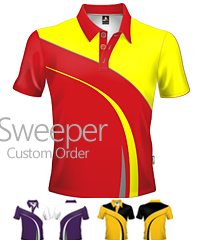 Introducing Premium Sweeper Club Polo #SP202. A Custom Order Service to produce professional quality polo's and training tees. Our experienced design team can assist you to create a Club Polo that will appeal to Senior Players, Directors, Sponsors, Supporters, Parents and Kids. Our polo's and tees are made with quality fabrics and quality inks that produce polo's that look great, are comfortable to wear and enhance your Club spirit! Enquiries Call Free on 1800 654 990.