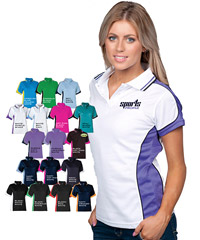 Womens Polo Shirts in Team colours