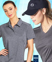 Womens outstanding Heather Training Tees #TS46 and Polo Shirts for Sport Industry and Club Teamwear and Merchandise. Print and Embroidery services. Rapid Cool fabric with Reflective piping. Just like Sport Store big brands.Plan B for keeping your costs low. Corporate enquiry: Shelley Morris Leigh Gazzard 1800 654 990