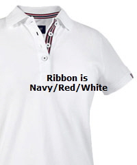 Avon Ladies White Cotton Polo