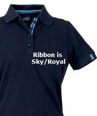 Avon-Ladies-Navy-Cotton-Polo