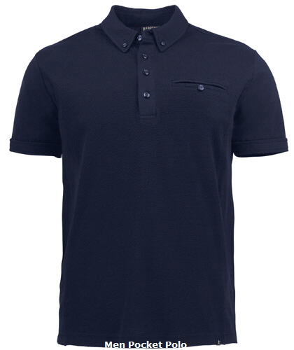 Corporate Polo with Pocket #2115001 Navy With Logo Service