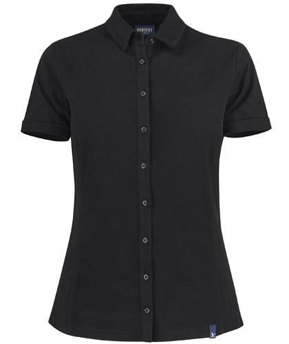 Corporate Polo Ladies #2112001 Black With Logo Service