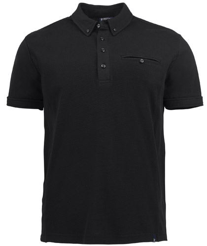 Corporate Polo with Pocket #2115001 Black With Logo Service