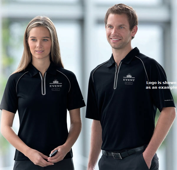 Intensity Polo Shirt With A Zip Front Corporate Com Au
