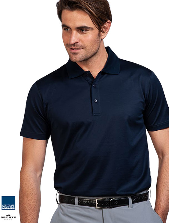 Best quality Corporate Polo. Top of the range, you will enjoy wearing the super soft, 100% Cotton Mercerised Egyptian Cotton Polo by Sporte Leisure. Available Black, Navy and Charcoal. Mens and Ladies with superb company logo embroidery service. Ladies longer length with 5 button button placket. Mens modern fit. Ladies Leisure Fit (roomy). For all the details please FreeCall 180-0 654 990.