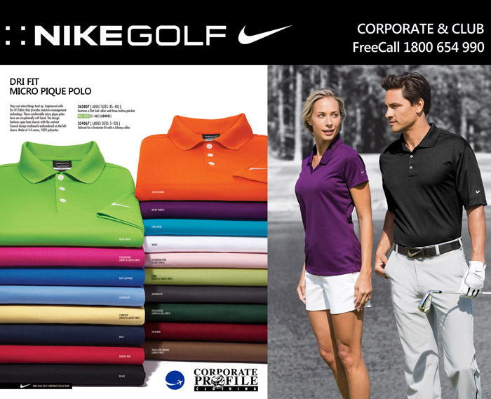 13cbafcc Corporate Profile will assist you with reliable service for Nike Corporate Polo  Shirts embroidered with your
