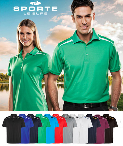 Premium Corporate Polo Shirts by Sporte Leisure #SPZONE Polo With Logo Service. Available in 12 Company and Club Colour . Corporate Sales Free Call 1800 654 990
