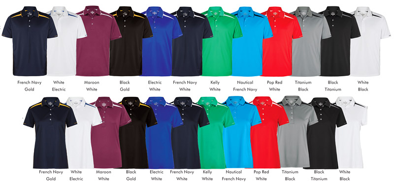 Colour Card for Premium Corporate Polo Shirts by Sporte Leisure #SPZONE Polo With Logo Service. Available in 8 Colour combinations, Mens (S-5XL) and Ladies (8-22). SL high performance Sportec fabric have been developed using an innovative moisture management process to ensure moisture is drawn away from the body for rapid evaporation, keeping the body dry and at a balanced temperature. These fabrics also have the benefits if Anti Static, UV Protection and a Super Soft Handle (touch) that gives it a fluid shape. #SPZONE is made with Sportec. For all the details the best idea is to call Renee Kinnear or Shelley Morris on FreeCall 1800 654 990