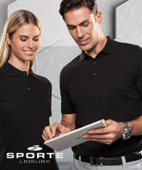Sporte Leisure Polo #PCSABB Black With Logo Service 200px
