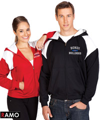 Hoodies with Shoulder Panels with Logo Service