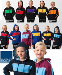 Kids Schoolwear Hoodies for Schools and Sports Club #BSHD11K With Logo Service. 11 Popular Team Colour Combinations. 290gsm anti pill fleece, great quality, and durability. Contrast colour inside the hood. Two side pockets. To inspect a sample on loan the best idea is to call Renee Kinnear or Leigh Gazzard on FreeCall 1800 654 990