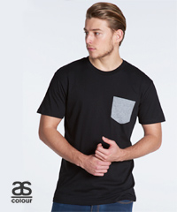 Staple-Pocket-T-Shirt-#5010-With-Print-Service