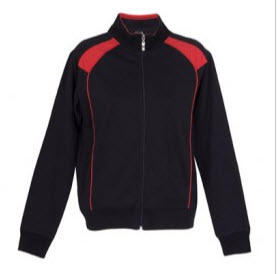 Track Top Jacket Black and Red