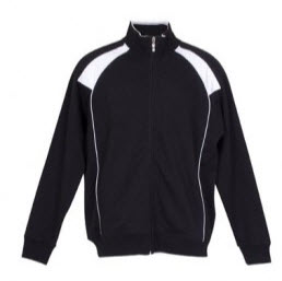 Track Top Jacket Black and White front
